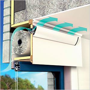 nawiewniki do kasety rolety okiennej